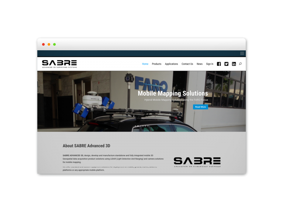 SABRE Advanced 3D Pict Digital Website